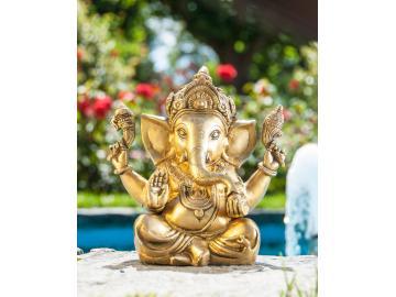 Ganesha fFigur aus Messing 23 cm