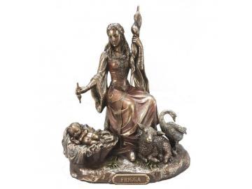 Frigga - Göttermutter, Figur bronziert