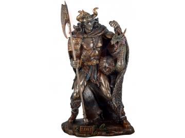 Nordischer Gott Loki aus Polyresin - bronziert