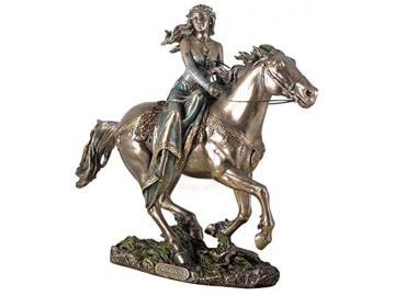 Keltische Pferdegöttin Rhiannon - Figur bronziert