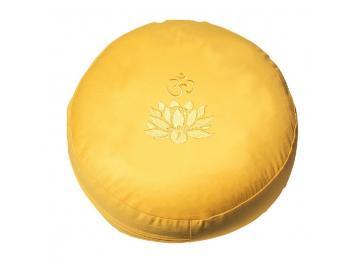 Meditationskissen mit Om und Lotus bestickt - verschiedene Farben