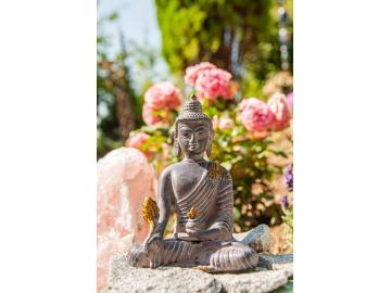 Medizin Buddha Messingfigur 15,5 cm