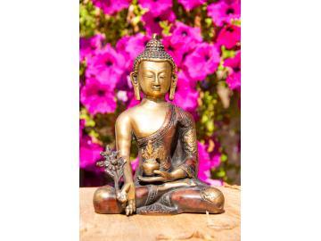 Medizin Buddha Messingfigur 19,5 cm