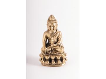 Shakyamuni Budda Statue aus Messing 27 cm